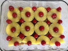 Easy Pineapple Upside Down Cake - Mrs Happy Homemaker Pineapple Slices, Canned Pineapple, Pineapple Upside Down Cake, Pineapple Dessert Recipes, Yellow Cake Mixes, Mixed Vegetables, Cake Ingredients, Cake Batter, Homemaking