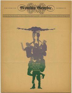 Seymour Chwast, Paul Davis, Milton Glaser and Isadore Seltzer: THE PUSH PIN MONTHLY GRAPHIC No. 28. New York: The Push Pin Studios, 1960. Milton Glaser, Typography Letters, Typography Prints, Lettering, Seymour Chwast, Art Nouveau, Paul Davis, Cultura Pop, Zine