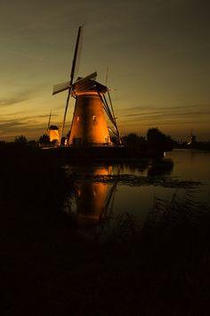 windmills of Kinderdijk the Netherlands