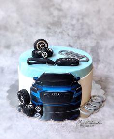 Mini Cakes, Cupcake Cakes, Boat Cake, Fondant Animals, Birthday Cake Decorating, Cakes For Men, Pastry Cake, Fathers Day, Desserts