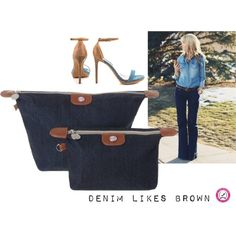 denim loves brown by brech on Polyvore featuring mode and Steve Madden