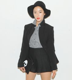 [STYLENANDA] HIGH COLLARED BLAZER