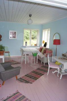 Painted Floor #diy #color