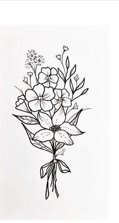 I love this simple bunch of flowers- great small design to add to my sleeve