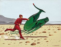 Moebius, hommage à Jack Vance par Moebius, Jean Giraud - Illustration