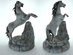 horse sculpture an a