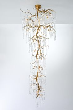 Glamour Staircase Large Chandelier,CODE: CT DIMENSIONS: x In a visual line of verticalism, the Glamour collection generates a replica of tree sculptures, as vertica. Chandelier Design, Ceiling Light Design, Modern Chandelier, Chandelier Lighting, Decorative Ceiling Lights, Home Lighting Design, Chandelier Ideas, Ceiling Lamp, Large Chandeliers