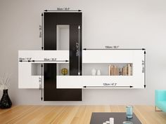 Brin 1 - Modern Wall Units - LIVING ROOM IdeaForHome