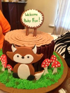 fox cakes | Fox baby shower cake