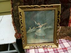 Vintage 1940's Framed Ballet Dancers Lithograph by by thebedpost02, $28.00