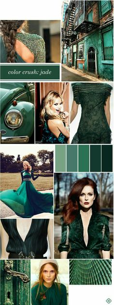 Color Crush: Jubilant Jade My favorite color to wear Colour Board, Color Stories, Fashion Colours, Trends 2018, Pantone Color, Color Themes, Shades Of Green, My Favorite Color, Color Patterns