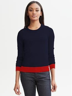 Extra-fine merino wool colorblock pullover | Banana Republic - gift from S - love it