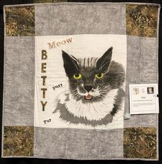 """""""Betty"""" by Charlene Poppy.   Challenge Quilt: 2016 El Camino Quilters guild show (California)."""