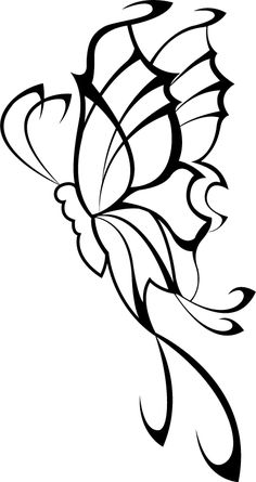 tribal butterfly tattoo designs Design Butterfly Tattoos flash art ~A.R.