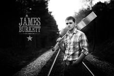 Country musician portrait photo black and white