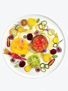 Carpaccio de Legumes by chef Alain Passard of L'Arpège in Paris.
