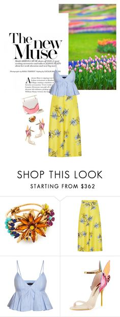 """Spring/Summer 2017: Trendy and chic"" by ecletica-and-chic ❤ liked on Polyvore featuring Elizabeth Cole, VIVETTA, Sophia Webster and M2Malletier"