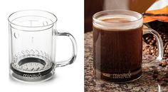 An ingenious French press single serve coffee mug, so you don't have to brew a whole pot.