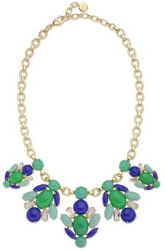 Accessorize with a gold, green & blue cabochon statement necklace from Stella & Dot. Find fashion necklaces, trendy necklaces, pendants, chokers & more.