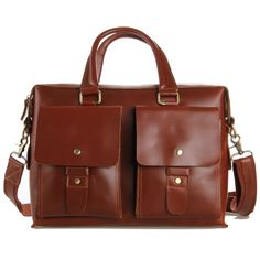 Augus Bag Mens Reddish Brown Real Leather 14
