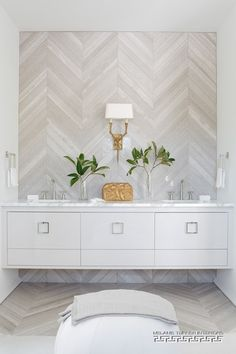 Be still my heart.  I would add a mirror, however.  Hall Bathroom floating vanity