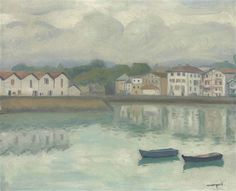 Albert Marquet, Port de Ciboure, Saint-Jean-de-Luz, October