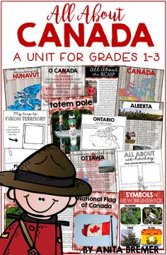 All About Canada: Maps, Facts About, Symbols (Distance Learning Friendly) Social Studies Lesson Plans, Social Studies Worksheets, Social Studies Activities, Teaching Social Studies, Science Activities, Canada Facts For Kids, Facts About Canada, All About Canada, Canada Information