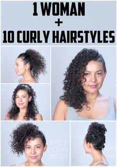 Fantastic 10 Easy Hairstyles For Naturally Curly Hair Top Knot Pinterest Short Hairstyles Gunalazisus