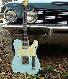 Vintage Fender Telecaster Daphne Blue.