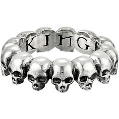King Baby Studio Skull Infinity Ring ($170) ❤ liked on Polyvore featuring jewelry, rings, bracelets, accessories, silver, skull ring, king baby studio, bracelet jewelry, bracelet ring and skull jewelry