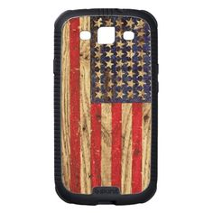 Vintage Patriotic American Flag on Old Wood Grain iPhone Case by Railton Road Iphone 5c Cases, Iphone Case Covers, Galaxy S3 Cases, Old Wood, New Iphone, Wood Grain, Cover Design, American Flag, Vintage
