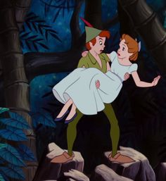 Peter pan wendy it really does represent the the awkward teen years, and girls and guys are around each other. this is the best and most beautiful disney Walt Disney, Disney Pixar, Disney Couples, Disney And Dreamworks, Disney Love, Disney Magic, Disney Art, Disney Characters, Disney Icons