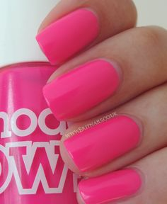 Models Own - Bubblegum....looks stunning in person. One of my personal favorites. This is a bright neon polish and this pic does not do it justice