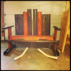Swinging Bench From Repurposed Pallets #PalletBench, #PalletFurniture, #RecycledPallet, #Swing