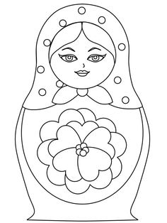 Coloring festival: Nesting dolls coloring pages Colouring Pages, Coloring Pages For Kids, Coloring Sheets, Coloring Books, Matryoshka Doll, Kokeshi Dolls, Doll Crafts, Diy Doll, Doll Quilt