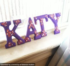 Simple craft for the weekend. Paint your name with your favorite colors and patterns.