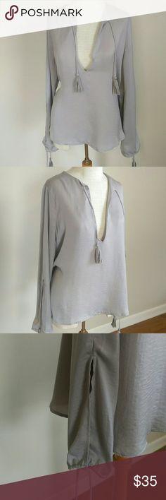 Gilded Dreamer silver Grey Blouse Gilded Dreamer silver Grey Blouse Gilded Dreamer Tops Blouses