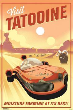 24x36 Star Wars - Tatooine
