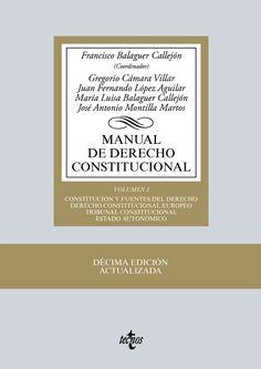 Manual de derecho constitucional / Francisco Balaguer Callejón. (2 vols.)