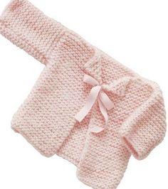 Free Knitting Pattern Pink Infant Cardigan Sweater Pattern to Knit