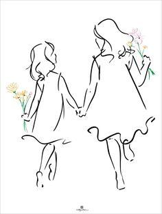 Sisters #drawingtips