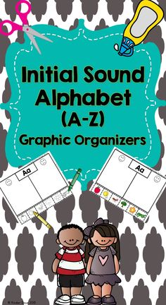 Perfect for K-1 review of initial sounds (A through Z). Students color and cut pictures pasting them on the correct side of the graphic organizer. This can be used during Literacy Centers, Small Groups and/or Home Learning. Color and Blackline masters included! Repinned by SOS Inc. Resources pinterest.com/sostherapy/.