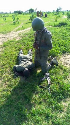 Tearful! Soldier Pays Last Respects to Colleague Killed by Boko Haram