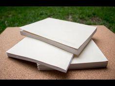 Como encuadernar hojas sueltas fácil y rápido/acabado profesional - YouTube