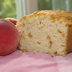GA Peach Pound Cake Allrecipes.com  Made this last night with peaches from the local farmers market. Baked in mini Bundt pans. Just the right size for a peachy burst of sunshine!