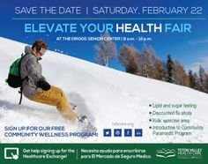 Join us for our Elevate Your Health Fair Feb. 22, 2014! #toyourhealth #healthfair