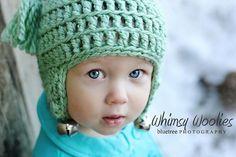 Christmas baby crochet hat pattern