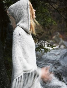 love this hooded poncho