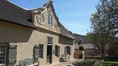 Burgundy Bourgogne - homestead built in 1791 by Pierre de Villiers - Franschoek - Western Cape - South Africa. Sa Tourism, Cape Dutch, Inner World, Countries Of The World, Homesteading, South Africa, Holland, Scenery, Burgundy