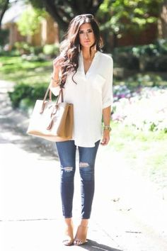 140 Casual Work Outfits Ideas 2018 Casual Summer Look – Summer Must Haves Collection. The post 140 Casual Work Outfits Ideas 2018 appeared first on Beauty Shares. Spring Work Outfits, Casual Summer Outfits, Chic Outfits, Winter Outfits, Fashion Outfits, Casual Dresses, Summer Outfits Women Over 40, Work Dresses, Fall Dresses